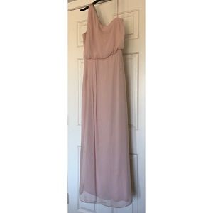 Long Adrianna Papell one shoulder long dress